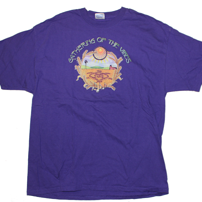 2001 Large Logo w/ Line Up Purple T-Shirt
