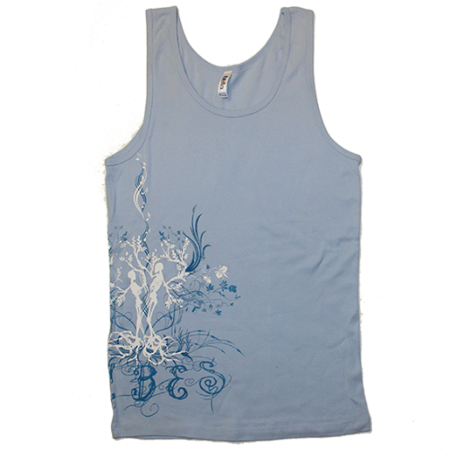 Women's Dancing Skeleton Blue Tank Top
